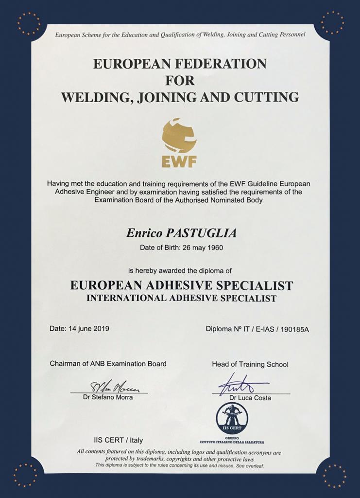 certificazione European Adhesive Specialist