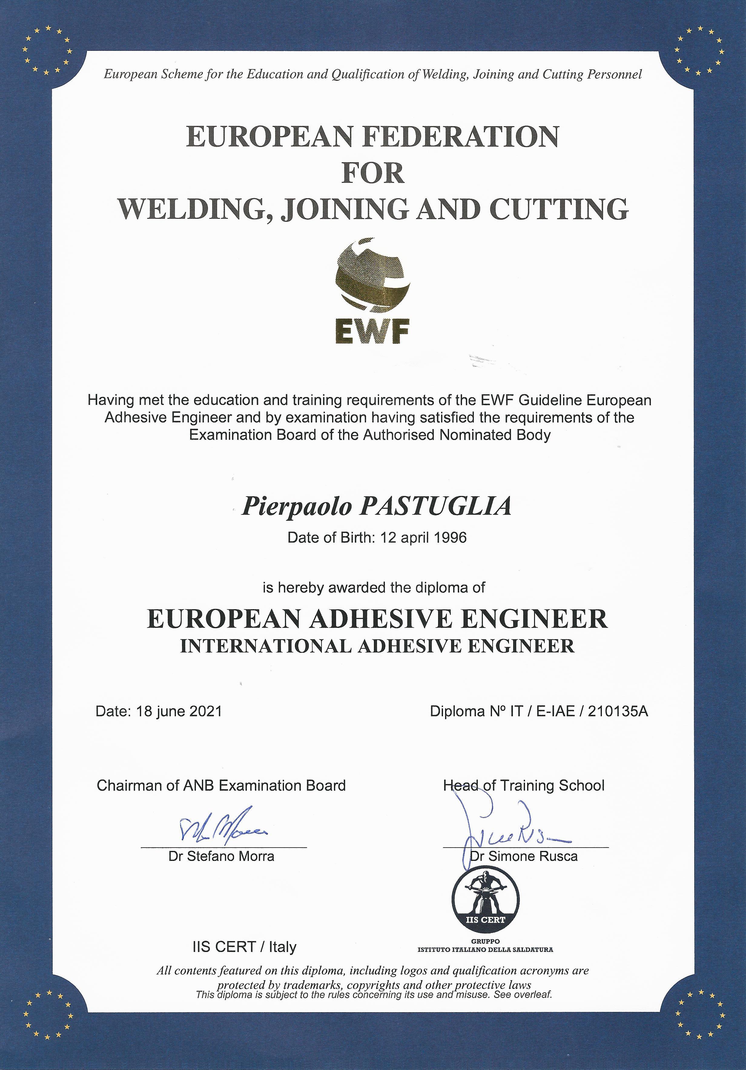 certificazione European Adhesive Engineer